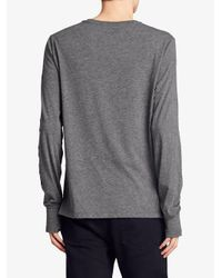 Burberry - Gray Devoré Jersey Top for Men - Lyst