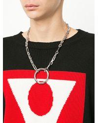 Maison Margiela - Metallic Ring Chain Necklace - Lyst