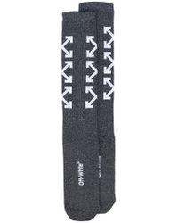 Off-White c/o Virgil Abloh - Black Arrows Socks for Men - Lyst