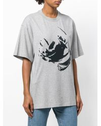 Y. Project - Gray Oversized Printed T-shirt - Lyst