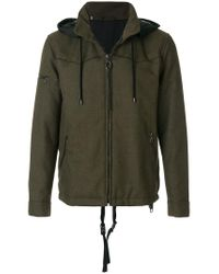 Lanvin | Green Technical Drawstring Jacket for Men | Lyst