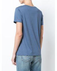 Vince - Blue Classic T-shirt - Lyst