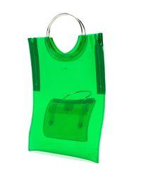 Toga - Green Ring Handle Vinyl Tote Bag - Lyst