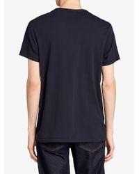 Burberry - Blue Crew Neck T-shirt for Men - Lyst