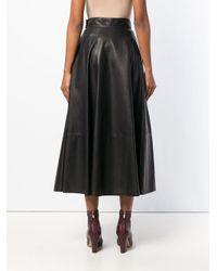 Loewe - Black High Waisted Full Skirt - Lyst