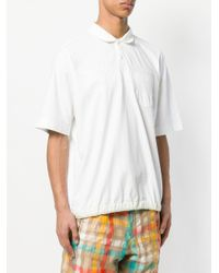Sacai - White Oversized Polo Shirt for Men - Lyst