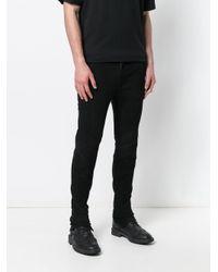 Forcerepublik - Black Slim Biker Trousers for Men - Lyst
