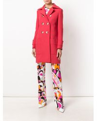 Emilio Pucci - Red Double-breasted Coat - Lyst