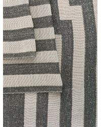 Etro - Gray Striped Jacquard Scarf for Men - Lyst