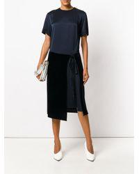 Cedric Charlier - Blue Asymmetric Hem T-shirt Dress - Lyst
