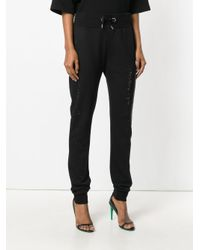 Philipp Plein - Black Sequinned Track Pants - Lyst