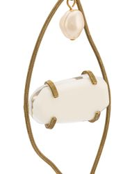 Marni - White Oversized Hanging Earring - Lyst