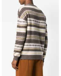 Pringle of Scotland - Brown Paneled Jumper for Men - Lyst