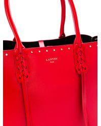 Lanvin - Red The Shopper Tote - Lyst