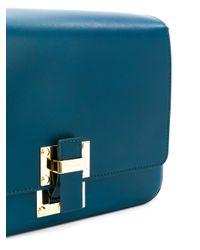 Sophie Hulme - Blue The Quick Large Shoulder Bag - Lyst