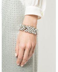 Oscar de la Renta - Metallic Embellished Pearl Bracelet - Lyst