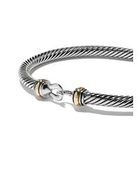 David Yurman - Metallic Cable Buckle Bracelet - Lyst