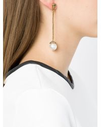 Camila Klein - Metallic Faux-pearl Earrings - Lyst