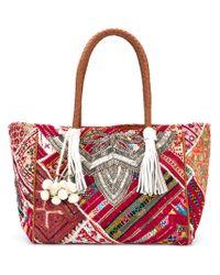 Antik Batik Embroidered Tote Bag