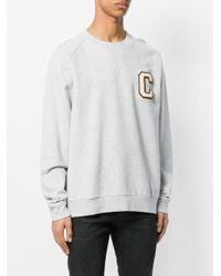 Calvin Klein - Gray Casual Loose Sweatshirts for Men - Lyst