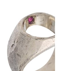 Henson - Metallic Mine Ring - Lyst