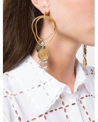 Sonia Rykiel - Metallic Asymmetric Coin Earrings - Lyst