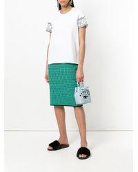 KENZO - Blue Mini Embroidered Eye Bucket Bag - Lyst