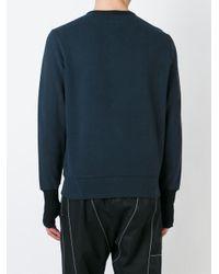 Alexander McQueen - Blue Herringbone Skull Print Sweatshirt for Men - Lyst