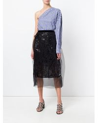 Sacai Black Mesh Skirt