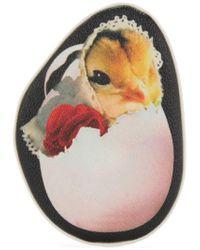Undercover - Black Chicken Print Purse - Lyst