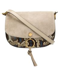 Chloé - Gray 'Kurtis' Shoulder Bag - Lyst