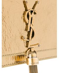 Saint Laurent - Metallic Kate Chain Tassel Wallet - Lyst