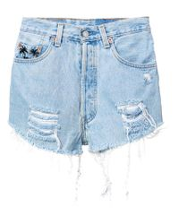 Chiara Ferragni - Blue 1987 Denim Shorts - Lyst