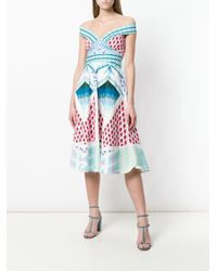 Temperley London - Blue Sunrise Midi Dress - Lyst