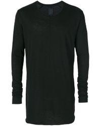 Thom Krom - Black Long Sleeved T-shirt for Men - Lyst