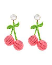 Venessa Arizaga - Pink Cherry Earrings - Lyst