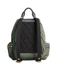 Burberry - Green Medium Rucksack Backpack - Lyst