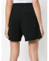 McQ Alexander McQueen - Black Embroidered Logo Patch Shorts - Lyst