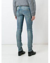 Balmain | Blue Biker Jeans | Lyst