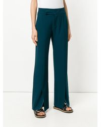 Hope - Blue Slit Detail Wide Leg Trousers - Lyst