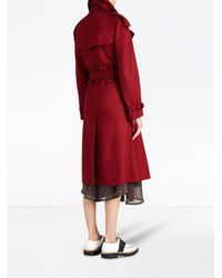 Burberry - Red Classic Trench Coat - Lyst