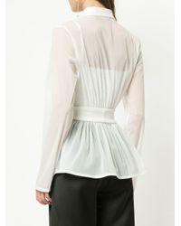 Christopher Esber - White Plain Peplum Shirt - Lyst