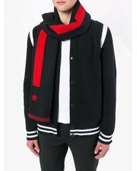 Givenchy - Black Star-intarsia Scarf for Men - Lyst
