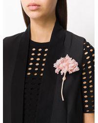 Ann Demeulemeester - Pink 3d Flower Brooch - Lyst