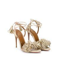 Aquazzura 'wild Thing' Metallic Sandals