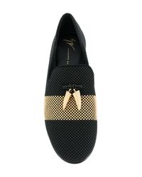Giuseppe Zanotti Black Tyson Loafers for men