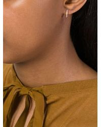 Wouters & Hendrix - Metallic Champagne Diamond Hoop Earrings - Lyst