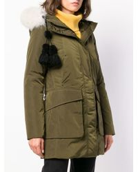 Peuterey - Green Padded Hooded Parka - Lyst