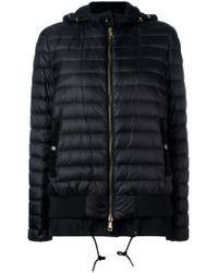 Moncler   Black Layered Hem Padded Jacket   Lyst