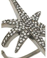 FEDERICA TOSI - Metallic Gemstone Embellished Star Ring - Lyst